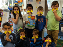 First grade celebrating Earth Day with The Lorax photo