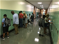 6th Graders Practicing Opening Their Lockers photo thumbnail80528